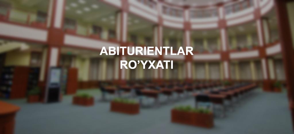 Abiturientlar ro'yxati