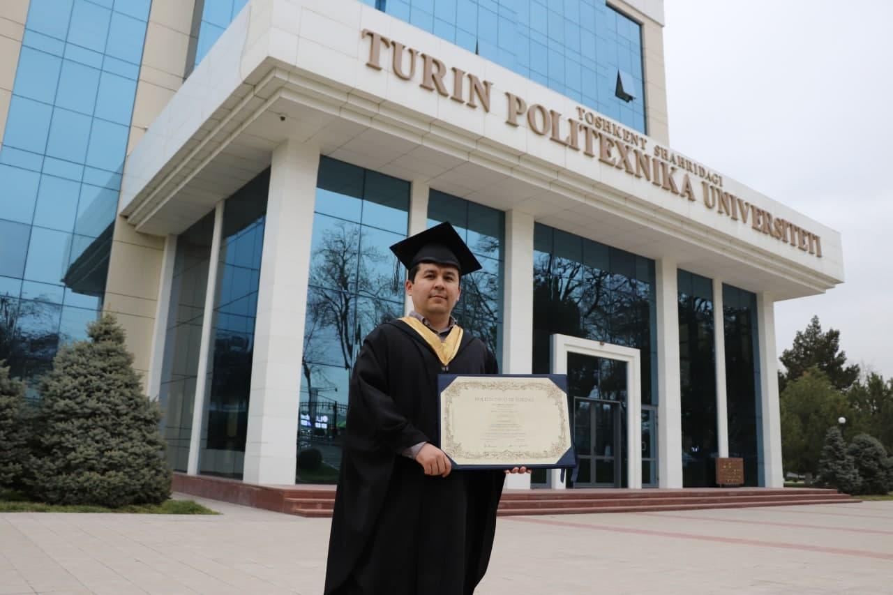 Выпускник Туринского Политехнического Университета в г. Ташкенте получил степень доктора философии.
