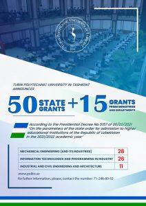 Turin Polytechnic University in Tashkent Announces Grants